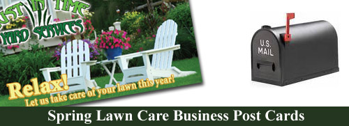 Spring Lawn Care Business Postcard