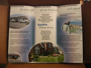 lawn care brochure | template
