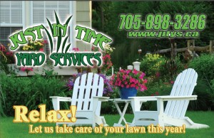 Spring Lawn Care Business Postcard Back