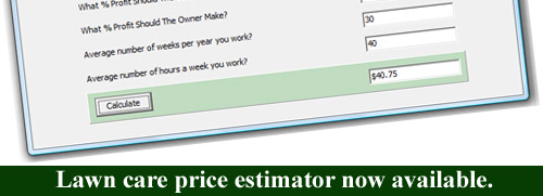 lawn care price estimator