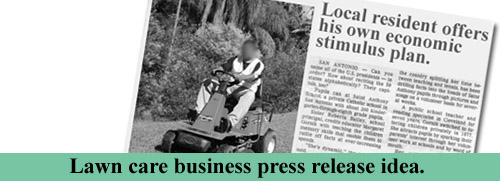 Lawn care business press release idea