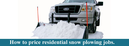 How to price residential snow plowing jobs.