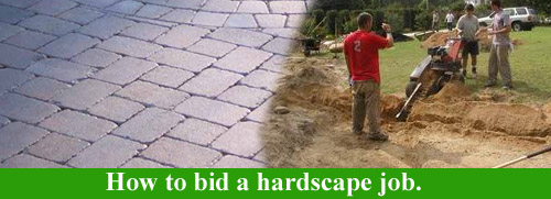 How to bid a hardscape job.