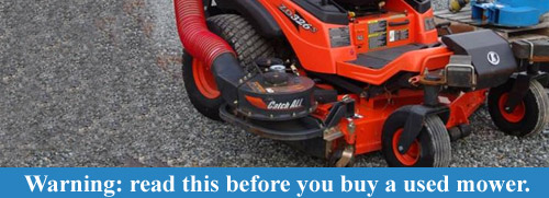 Before you buy a used mower