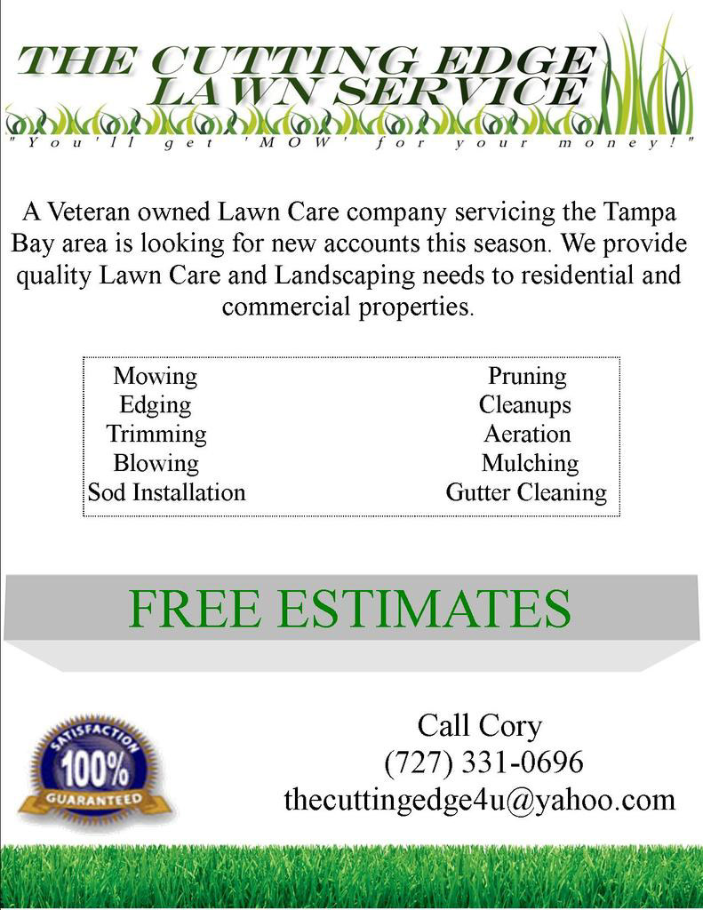 Spring lawn care flyer and direct marketing ideas lawn for Landscaping flyers templates