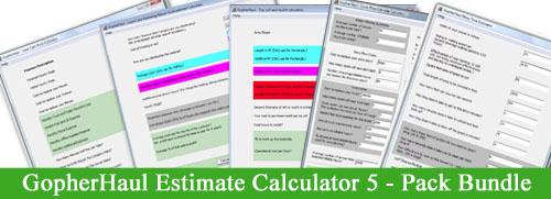 Order The GopherHaul Estimate Calculator 5 Pack and Save!