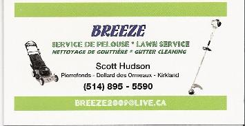 lawn care business card