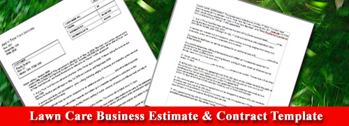 Lawn Care Business Estimate & Contract Template | Lawn Care ...