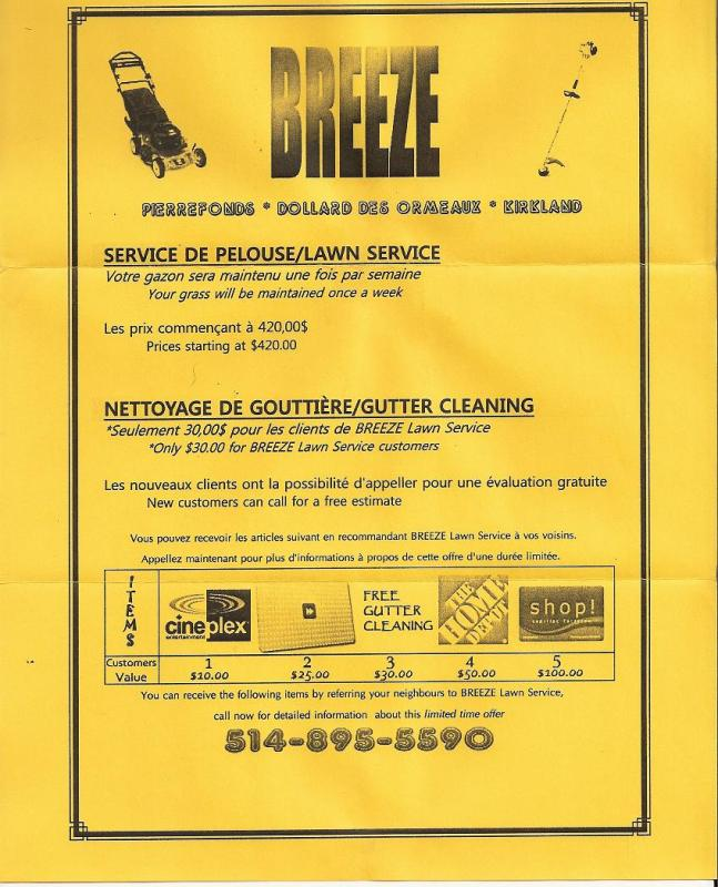 lawn care customer flyer