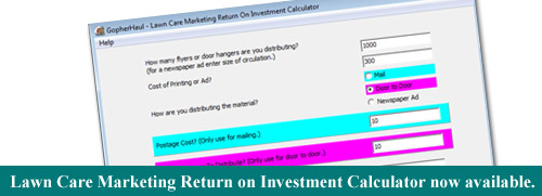Lawn Care Marketing Return On Investment Calculator