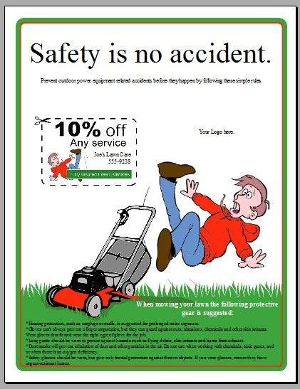 Lawn Mower Safety Flyer