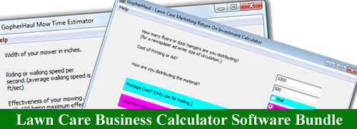 Lawn Care Business Calculator Software 4 - Pack Bundle