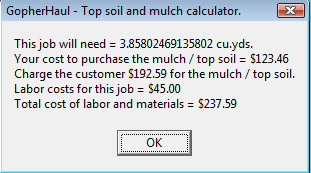 Topsoil & Mulch Calculator screen shot #2