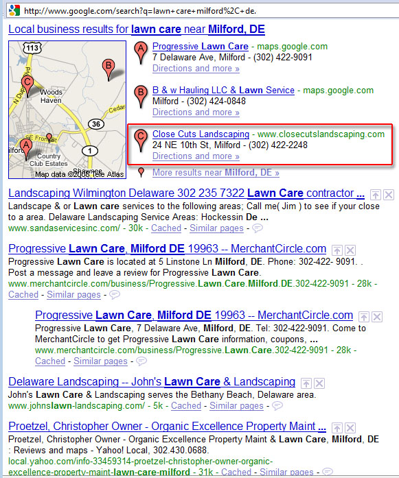 Lawn Care Business Search Engine Optimization