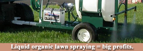 Liquid Organic Lawn Spraying