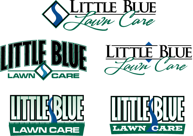 So he shared with us an image of all 5 lawn care logo designs.