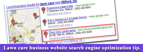 Lawn Care Website Search Engine Optimization