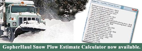 Snow Plow Estimate Calculator