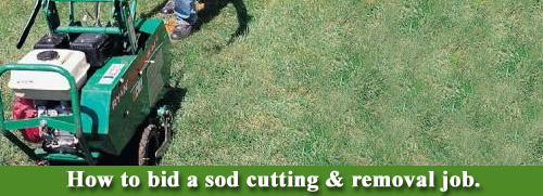 Sod cutting & removal