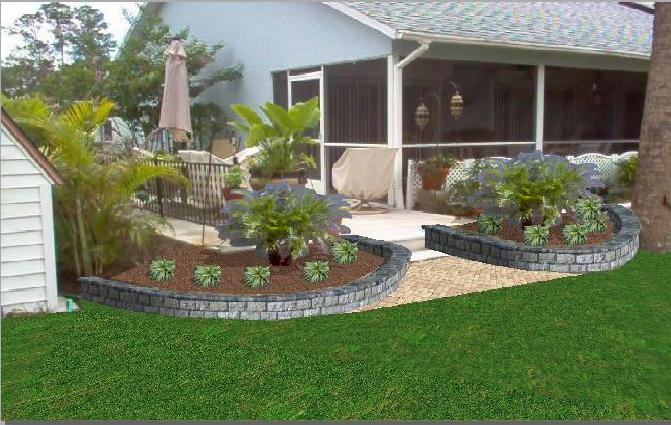 Landscape retaining wall 1