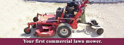 First commercial lawn mower