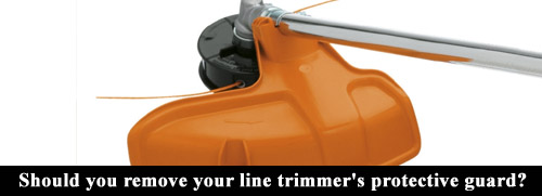Line trimmer protective guard