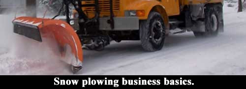 Snow plowing business basics