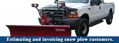 Estimating and invoicing snow plow customers