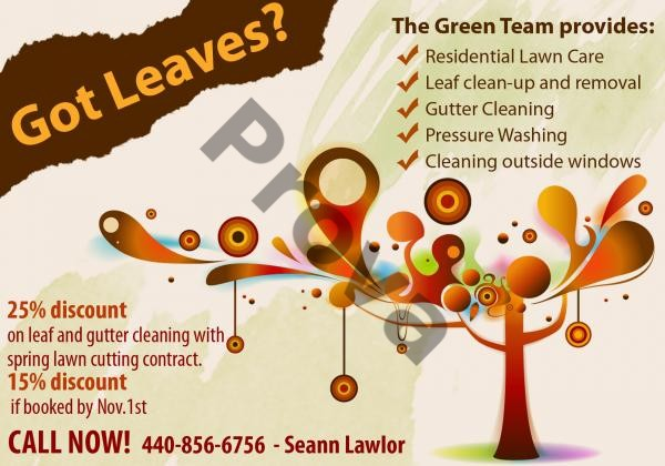 Lawn Care Business Postcard Design #1