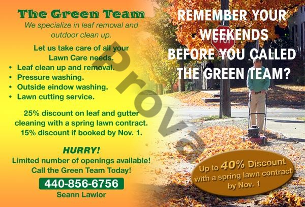Lawn Care Business Postcard Design #2