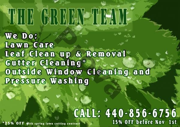 Lawn Care Business Postcard Design #3