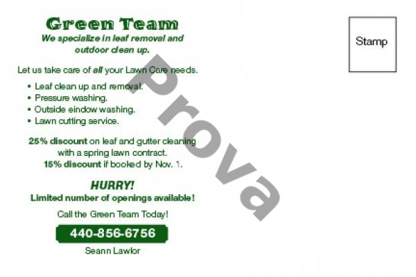 Lawn Care Business Postcard Design #4