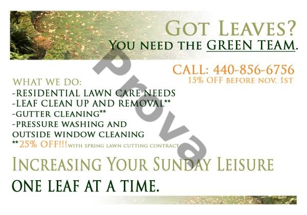 Lawn Care Business Postcard Design #5