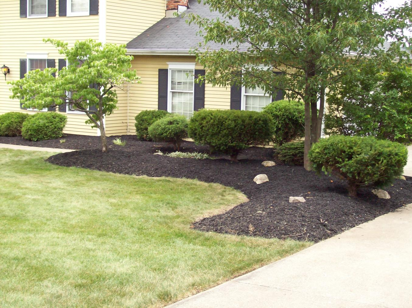 Front Yard Landscape Mulch Bid Example Lawn Care