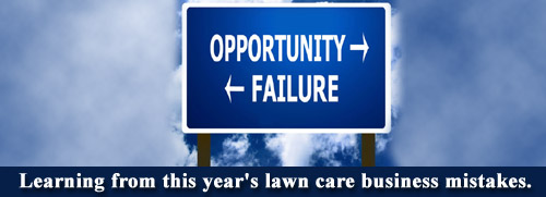 Lawn care business mistakes
