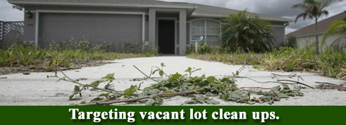 Vacant lot cleanups