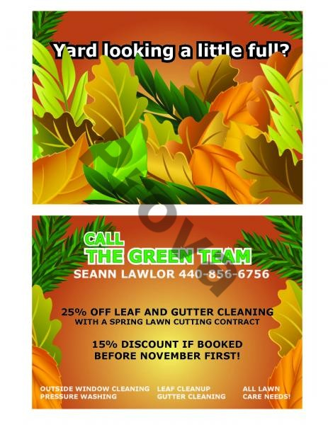 Lawn Care Business Postcard Design #9