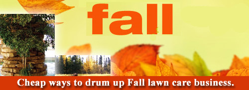 fall lawn care marketing
