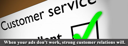 Lawn care customer relations