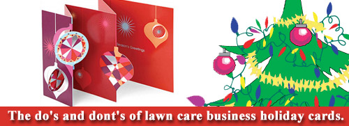 Lawn Care Business Holiday Cards