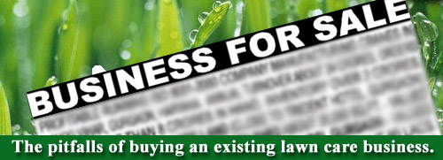 Buying a lawn care business