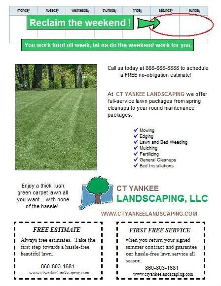 Spring Lawn Care Postcard And Flyer Design Ideas Lawn