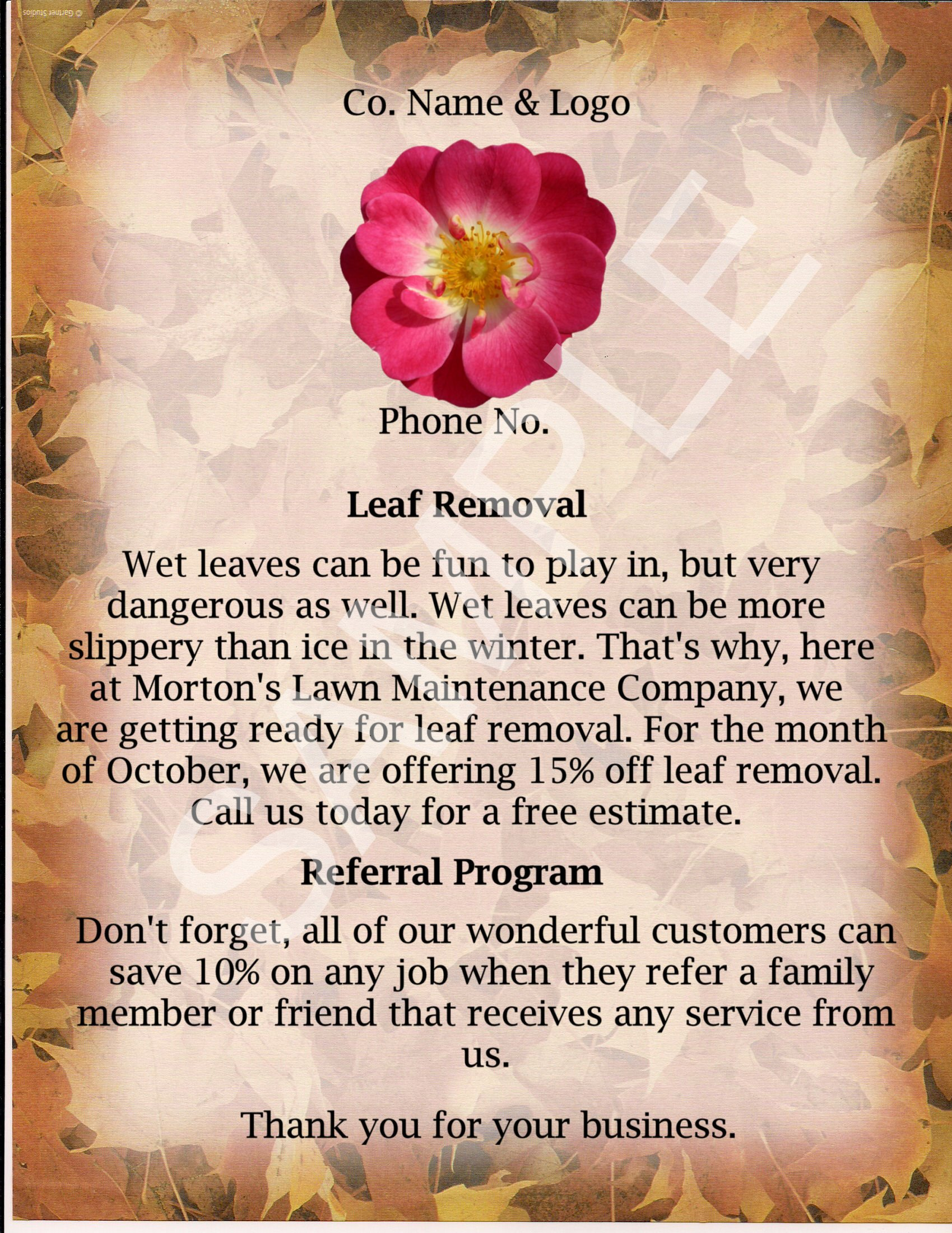 lawn care flyer lawn care business marketing tips gopherhaul blog lawn care flyer