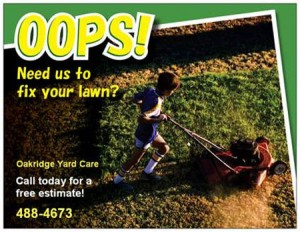 lawn care business postcard