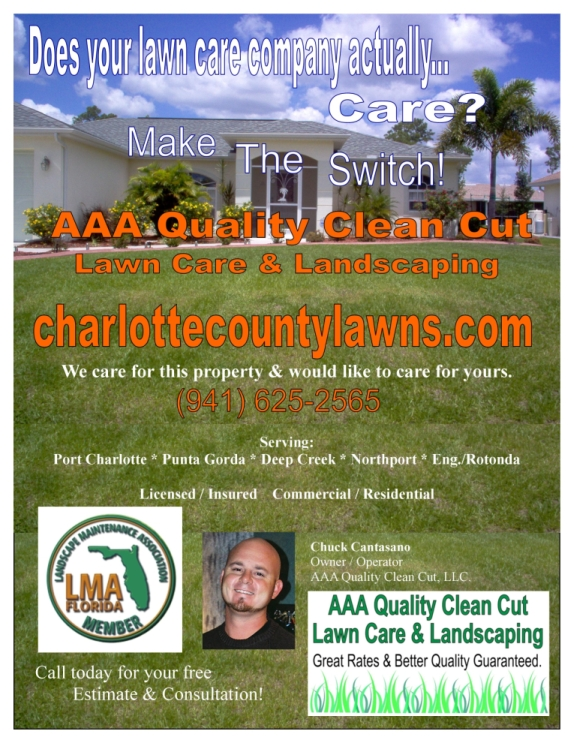 I think this is a fantastic lawn care flyer. You are putting many design ...