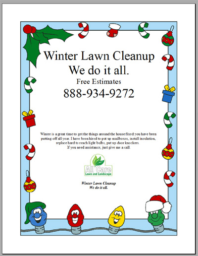 Winter Lawn Clean Up Flyer