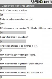 Mow Time Lawn Care Mowing Calculator