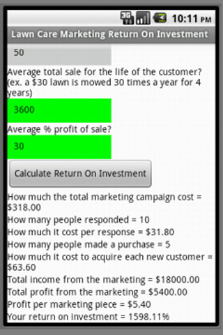 Lawn Care Marketing Return On Investment cap 3