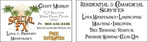 Lawn Care Business Card 2