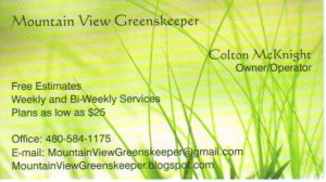 Lawn Care Business Card 3
